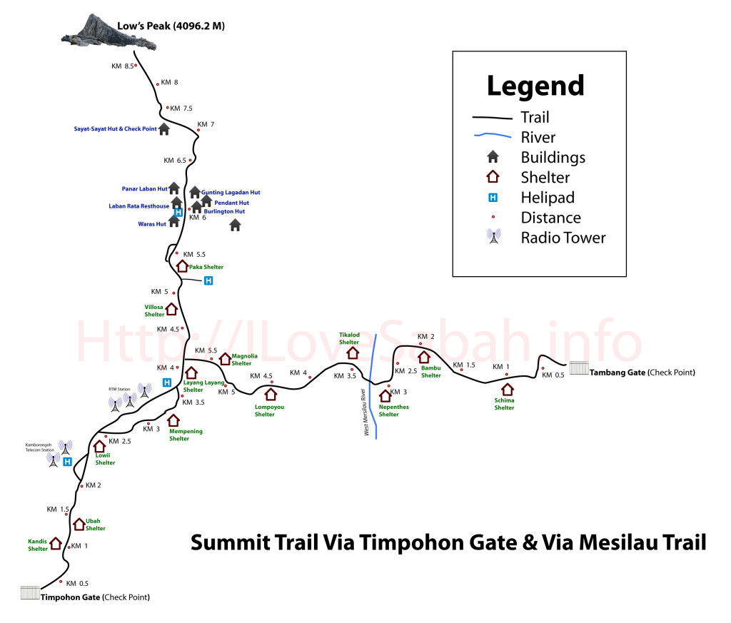 Mount-Kinabalu-Summit-trail-map
