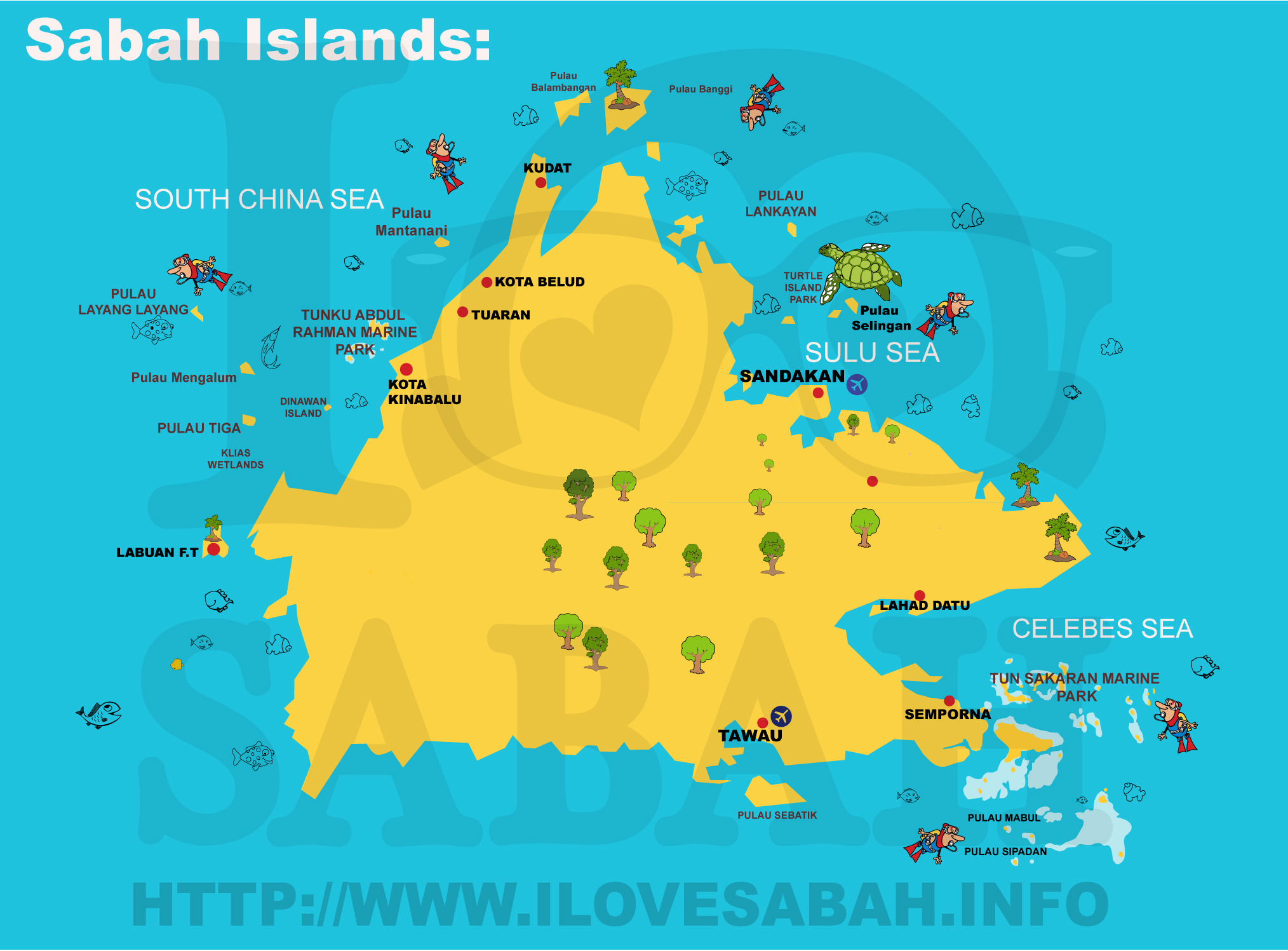 Map Of Sabah Islands